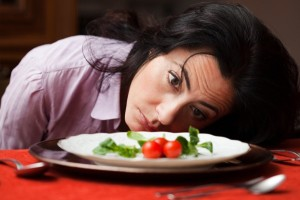 woman and plate
